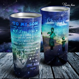 To My Son Don't Forget That I Love You Personalized Tumbler- Mother and Son- Birthday Gift, Cup for Son, Best Son Gift