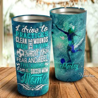 I Am Soccer Mom Personalized Tumbler- Mother's Day Gift, Mom Tumbler, Mom Cup, Best Mom Gift
