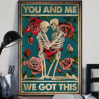 You And Me We Got This Family Canvas -Wedding Gifts- Couple canvas- 0.75 & 1.5 In Framed -Wall Decor, Canvas Wall Art