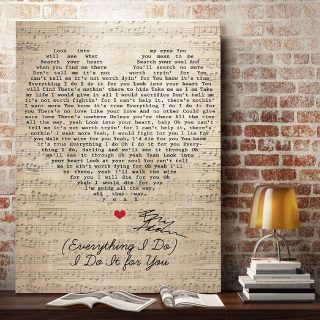 Everything I Do I Do It For You Robin Hood Prince of Thieves Canvas - 0.75 & 1.5 In Framed -Wall Decor, Canvas Wall Art