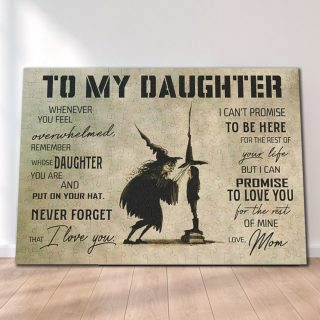 Witch To My Daughter I Can Promise To Love You For The Rest Of Mine Love Mom Canvas- 0.75 & 1.5 In Framed -Wall Decor, Canvas Wall Art