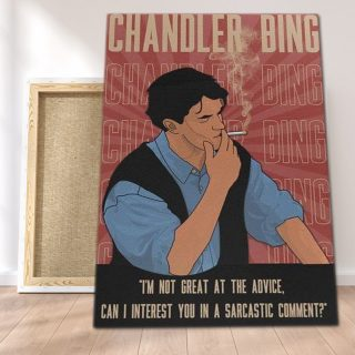 Chandler Bing Quote It's Not Great At Advice 0.75 & 1.5 In Framed Canvas - Home Living, Wall Decor, Canvas Wall Art