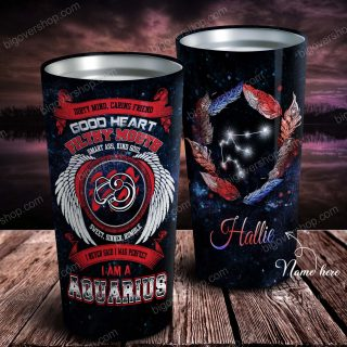Good Heart Filthy Mouth Smart Ass Kind Soul Personalized Zodiac Tumbler - Astrology Sign Gift, Stainless Tumbler