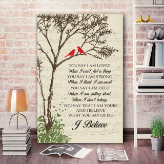 Hummingbirds You Say I Am Loved When I Can't Feel a Thing Framed Canvas - 0.75 & 1.5 In Framed -Wall Decor, Canvas Wall Art