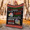 Oh The Virus Outside Is Frightful But This Yarn Is So Delightful Fleece Blanket - Best Gifts For Christmas