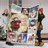 Snowflakes Are Kisses From Heaven Snowman Christmas Blanket Fleece Blanket - Christmas Best Gifts -Baby Blanket- Family Gifts