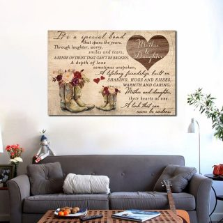 Family Mother and Daughter It Is A Special Bond Canvas -0.75 & 1.5 In Framed - Ideas Gifts- Home Living - Wall Decor, Canvas Wall Art