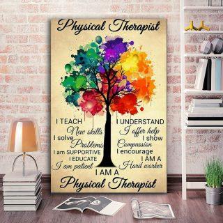 I Teach I Understand I Am Physical Therapist Canvas Wall Art - 0.75 & 1.5 In Framed -Wall Decor, Canvas Wall Art