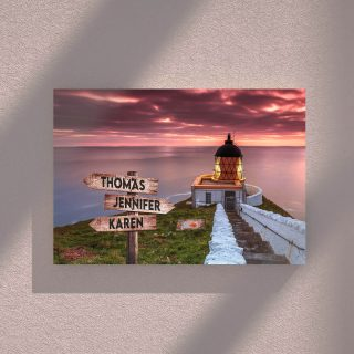 Bereg Poberezhe Multi-Names Canvas - Family Street Signs Customized With Names- 0.75 & 1.5 In Framed -Wall Decor, Canvas Wall Art