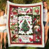 Tis The Season I Am Always With You Hummingbird and Christmas Tree Fleece Blanket - Christmas Best Gifts -Baby Blanket- Family Gifts