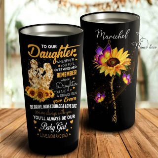 To My Daughter From Dad and Mom Tumbler, Daughter Cups, Daughter Mugs- Best Gift for Daughter