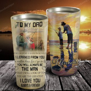 Father And Son Fishing - To My Dad I Love You Always And Forever From Son Tumbler - Family Gifts- Travel Mug