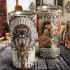 Personalized Long Hair Make Me Different Native Blood Makes Me Dangerous Stainless Steel Tumbler- Wolf Cup- Travel Mug - Birthday Gift Ideas