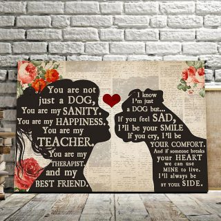 Personalized Girl Loves Boxer – You Are Not Just A Dog, You Are My Sanity 0.75 & 1.5 In Framed Canvas - Home Decor, Canvas Wall Art