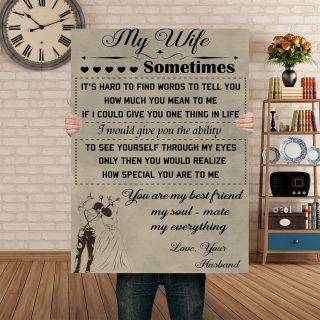 My Wife My Bestfriend My Soul- Mate My Everything 0.75 & 1.5 In Framed Canvas - Home Living, Wall Decor, Canvas Wall Art