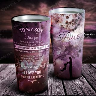 I Love You Forever And Always Galaxy Red Purple Personalized Tumbler-Gift for Son, Son Cup, Best Son Gift- Son Mugs