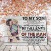 Mom And Son – To My Son, I Closed My Eyes For But A Moment And Suddenly Canvas - 0.75 & 1.5 In Framed -Wall Decor, Canvas Wall Art