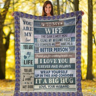 To My Wife Blanket, Wife blanket, Love Your Husband Blanket, Love letter blanket, Christmas 2020 Blanket, Christmas Gift, Wife gift