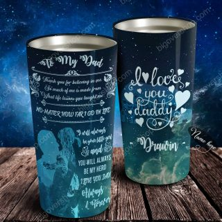 To My Dad - Heart Galaxy - Personalized Tumbler- Father's Day Gift, Dad Tumbler, Dad Cup, Best Dad Gift