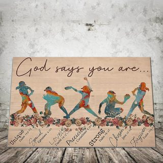 Baseball God Says You are Unique Special - 0.75 & 1.5 In Framed Canvas - Gift For Baseball Lovers- Wall Decor,Canvas Wall Art
