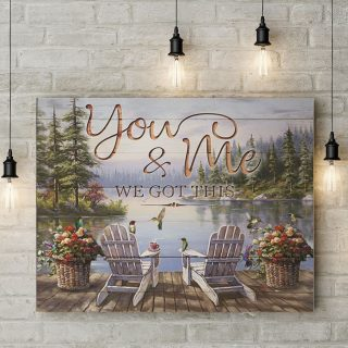 You And Me We Got This Couple Canvas - Street Signs Customized With Names - 0.75 & 1.5 In Framed -Wall Decor, Canvas Wall Art