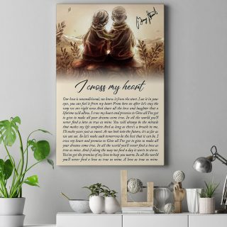 Old Couple With Love and I Cross My Heart By George Strait In Pure Country 0.75 & 1.5 In Framed -Wall Decor, Canvas Wall Art