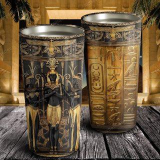 Personalized Ancient Egypt Symbols Stainless Steel Tumbler - Travel Mug - Birthday Gift Ideas