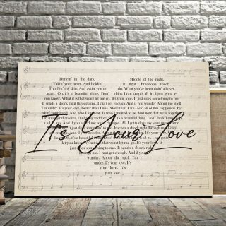 Dancing In The Dark Taking Your Heart It's Your Love Canvas - 0.75 & 1.5 In Framed -Wall Decor,Canvas Wall Art