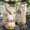 Personalized Sunflower Mother and Daughter- To My Daughter You'll Always Be My Baby Girl Tumbler, Daughter Cups- Best Gift for Daughter