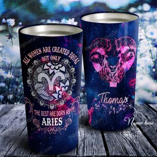 All Women Are Created Equal But Only Personalized Tumbler - Astrology Sign Gift, Stainless Tumbler