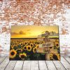 Sunflower Field and Sunset Custom Names Canvas - Street Signs Customized With Names - 0.75 & 1.5 In Framed -Wall Decor, Canvas Wall Art
