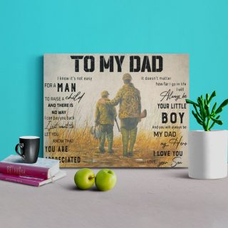 To My Dad I Always Be Your Little Boy 0.75 & 1.5 In Framed Canvas - Gifts For Dad - Home Living - Wall Decor, Canvas Wall Art