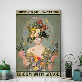 Garden Wherever Life Plants You Vertical Canvas - 0.75 & 1.5 In Framed - Home Decor, Canvas Wall Art