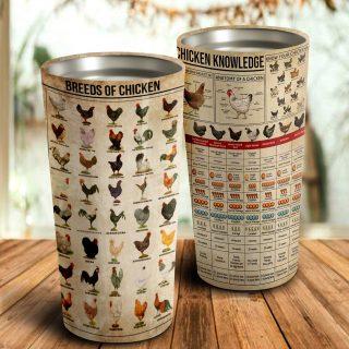 Chicken Knowledge Stainless Steel Tumbler - Best Gifts for Chicken Lovers - Chicken Travel Mug