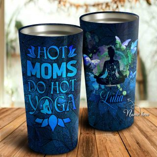 Hot Moms Do Hot Yoga Personalized Tumbler- Mother's Day Gift, Mom Tumbler, Mom Cup, Best Mom Gift