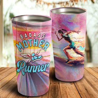 BaDass Mother Runner Personalized Tumbler- Mother's Day Gift, Mom Tumbler, Mom Cup, Best Mom Gift