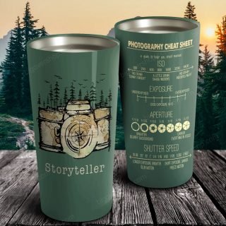 Camera Tell Your Story - Photography Cheat Sheet Stainless Steel Tumbler - Travel Mug - Photographer Lover gift