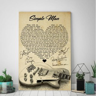 Simple Man Canvas- Mama Told Me When I Was Young Canvas - Couple Canvas- Wall Decor, Canvas Wall Art