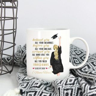 To Daughter- Personalized Behind You All Your Memories Before You All Your Dreams Coffee Mug - Best Gift for Daughter - College Graduate