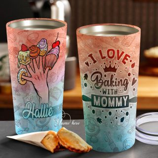 Personalized- I Love Baking with Mommy Tumbler- Mother's Day Gift, Mom Tumbler, Mom Cup, Best Mom Gift