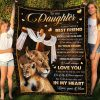 Lion Jesus Cross Mom To My Daughter I Asked God For A Best Friend Fleece Blanket - Christmas Best Gifts For Daughter From Mom- Family Gifts