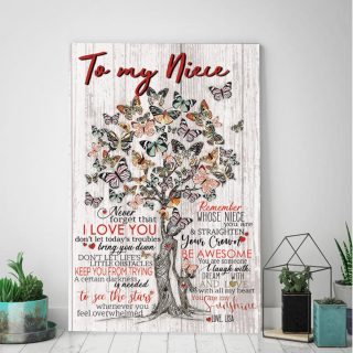 To My Niece Never Forgot That I Love You- You Are My Sunshine Canvas- 0.75 & 1.5 In Framed -Wall Decor, Canvas Wall Art