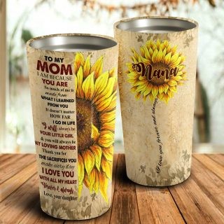 To My Mom You Are My Sunflower Personalized- Mother's Day Gift, Mom Tumbler, Mom Cup, Best Mom Gift