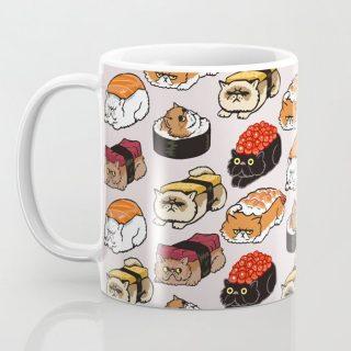 Sushi Persian Cat Coffee Mug - Funny Cat Mug | Cat mug | Gifts for Cat Lovers | Cat Cup  |Cat Lover Gift Mug