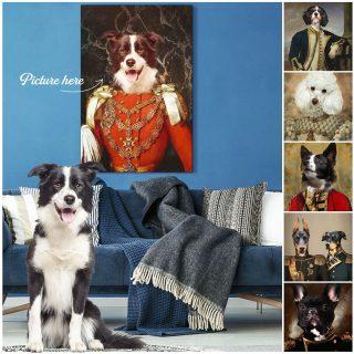 CUSTOM DOG PORTRAIT Canvas ∙ Custom Pet Portrait Canvas ∙ Custom Dog Canvas ∙ Custom College Dorm ∙ Custom Dog Portrait Painting ∙ Pet Loss