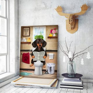 Funny Dachshund Canvas - Home Decor Wall Art- Dog Lovers Gifts- Best Gifts For Dog Owner