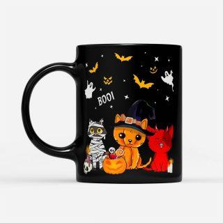 Costume Cat Halloween - Black Mug- Cute Halloween Mug- Halloween Coffee Mug- Halloween Gifts