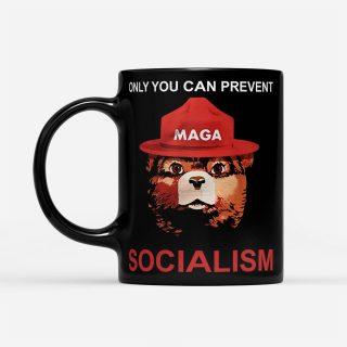 Bear Maga Only You Can Prevent Socialism - Black Mug - Funny Bear Mug   Bear mug   Gifts for Bear Lovers   Bear Cup   Bear Lover Gift Mug