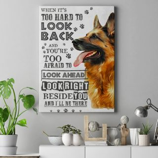 Old German Shepherd Dog Never Forget Who You Are Canvas 1,5 In Framed Canvas  -Best Gift for Halloween -Wall Decor