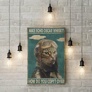 Mike Echo Oscar Whisky How Do You Copy Over Cat 1,5 In Framed Canvas  -Best Gift for Halloween -Wall Decor